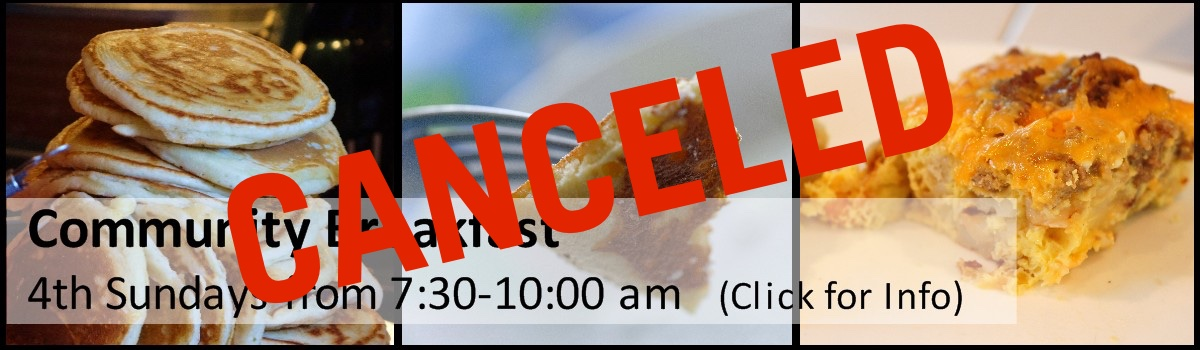 Community Breakfast Canceled